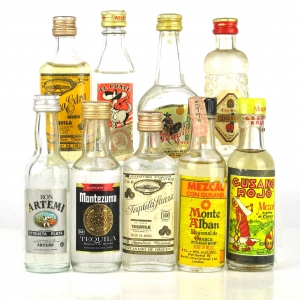 Tequila and Mezcal selection 9 x Miniature