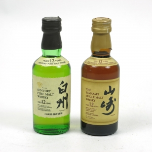 Yamazaki and Hakushu 12 Year Old Miniatures 2 x 5cl