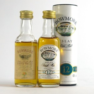 Bowmore Miniature Selection 2 x 5cl / Including Glasgow Garden Festival 1988