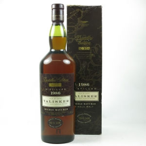Talisker 1986 Distillers Edition First Edition front
