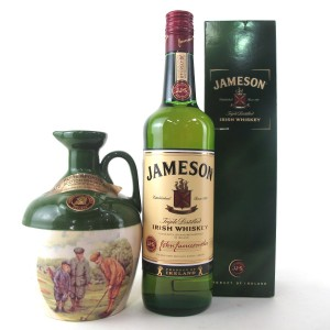 Rutherford's Scotch Whisky Decanter & Jameson Irish Whiskey 2 x 70cl