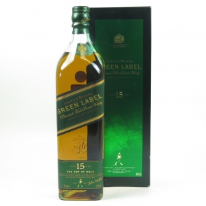 Johnnie Walker Green Label 15 Year Old 1 Litre Front