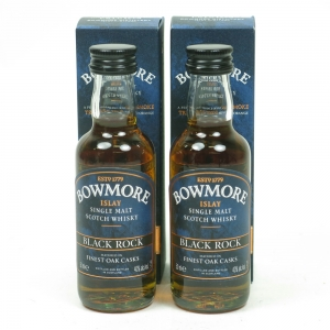 Bowmore Black Rock Miniatures 2 x 5cl
