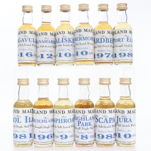Whisky Connoisseur Miniature Selection 13 x 5cl / Includes Port Ellen 1980