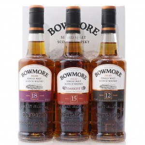 Bowmore Collection Including 12, 15 and 18 Year Old / 3 x 20cl