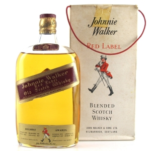 Johnnie Walker Red Label 1950s Half Bottle