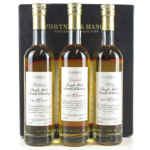 Fortnum and Mason 10 Year Old Malt Whisky Tasting Set 3 x 20cl