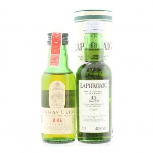 Laphroaig & Lagavulin Miniatures 2 x 5cl / including White Horse Bottling