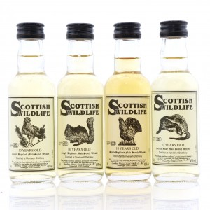 Signatory Vintage 10 Year Old Scottish Wildlife Miniatures 4 x 5cl / Includes Port Ellen