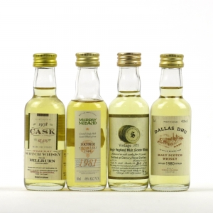 Closed Distillery Minitures Including Glenury 1975 / 4 x 5cl