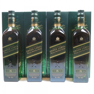 Johnnie Walker Green Label Taiwan Wonders Collection 4x70cl