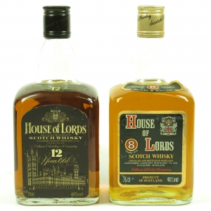 House of Lords 8 and 12 Year Old 1980s 2 x 75cl