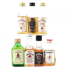 Miscellaneous World Whisky Miniatures 7 x 5cl