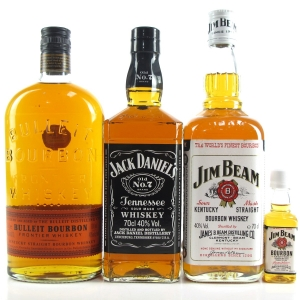 American Whiskey Selection 3 x 70cl / Including 5cl Miniature