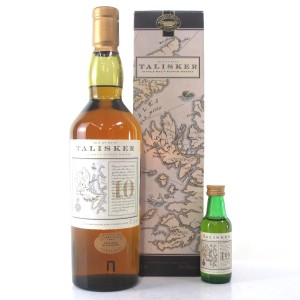 Talisker 10 Year Old Map Label / with Miniature 5cl