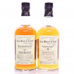 Balvenie 10 Year Old Founder's Reserve & 12 Year Old Double Wood 2 x 20cl