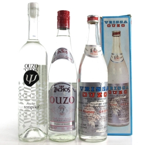 Ouzo Selection x 3 / Including Vrissa Ouzo 1970s