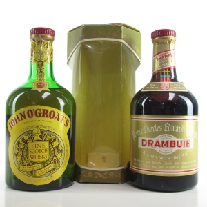 John O'Groat's Blended Whisky 26 Fl. Ozs. and Drambuie Liqueur 23 3/4 Fl. Ozs. 1970s