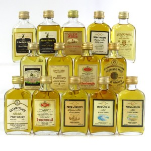 Gordon and MacPhail Flat Bottle Miniature Selection x 14