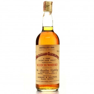 Macallan 1940 Gordon and MacPhail / Co. Pinerolo Import