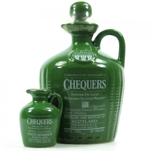 Chequers 1970s Decanter 26 2/3 Fl Ozs and Miniature