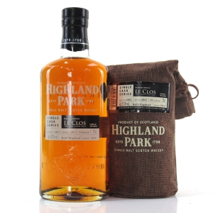 Highland Park 2002 Single Cask 15 Year Old #2911/ Le Clos
