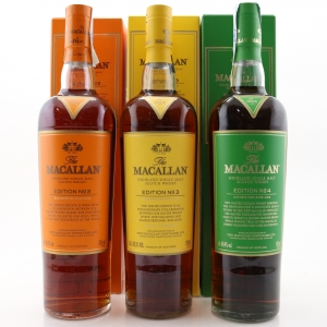 Macallan Edition No.2-4 Collection 3 x 70cl