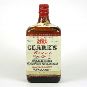 Clark's Reserve Select Quality Blended Whisky 1930s Front