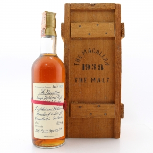 Macallan 1938 Handwritten Label / Rinaldi Import