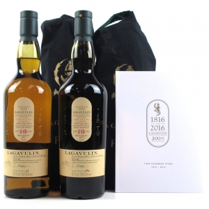 Lagavulin 16 Year Old Feis Ile 2017 2 x 70cl / Including 200th Anniversary Booklet