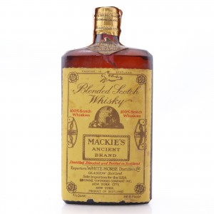 Mackie's Ancient Brand Scotch Whisky 1950s US Import / Spring Cap