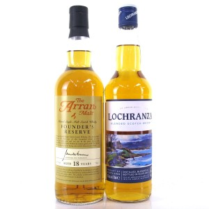 Arran Founder's Reserve 18 Year Old / Including Lochranza Blend / 2 x 70cl