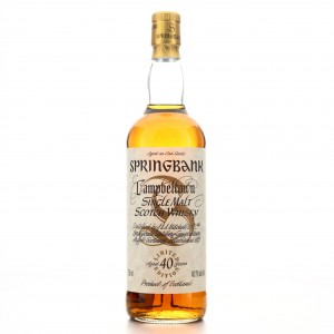 Springbank 40 Year Old Millennium Limited Edition 75cl / US Import