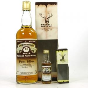 Port Ellen 1970 Gordon and Macphail 17 Year Old / Including Miniature