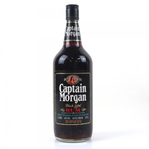 Captain Morgan Black Label Rum 1980s 1 litre