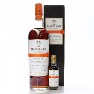 Macallan 1997 Easter Elchies 2010 & Miniature 5cl