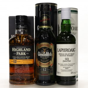 Single Malt Selection 3 x 35cl / including Laphroaig 10 Year Old