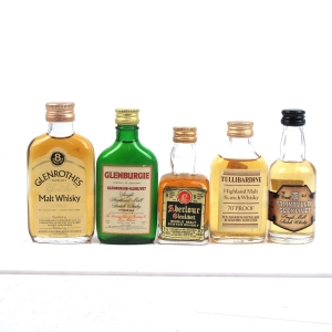 Highland Miniature Selection x 5 / Including Glenrothes 8 Year Old