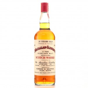 Macallan 25 Year Old Gordon and MacPhail 1980s / Co. Pinerolo Import