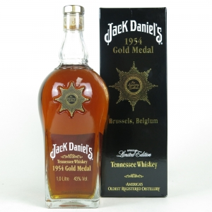 Jack Daniel's Gold Medal 5th Release 1954 Brussels Star of Excellence 1 Litre