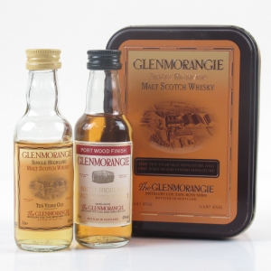 Glenmorangie 10 Year Old and Port Wood Miniature Gift Tin 2 x 5cl