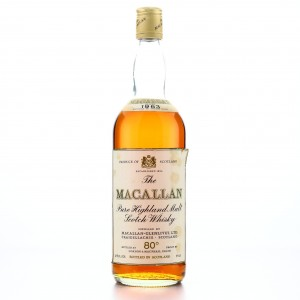 Macallan 1963 Gordon and MacPhail 80 Proof