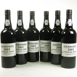 Cockburn's 2003 Vintage Port 6 x 75cl