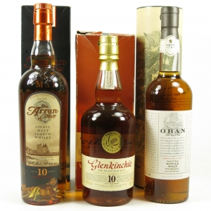 Miscellaneous Single Malts 3 x 70cl
