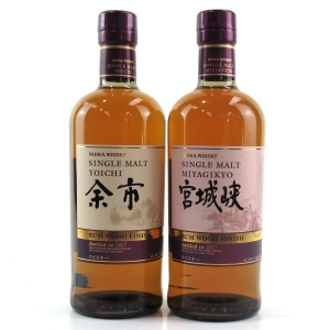 Yoichi and Miyagikyo Rum Wood Finish 2 x 70cl