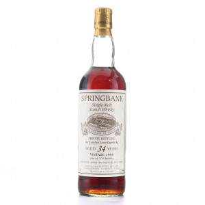 Springbank 1964 Private Cask 34 Year Old / Lateltin Lanz Ingold