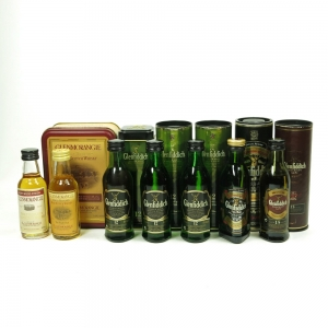 Glenfiddich and Glenmorangie Miniature Selection 7 x 5cl