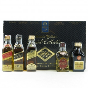 Johnnie Walker Special Collection 500 Years Including Johnnie Walker Liqueur 5 x 5cl