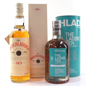 Bruichladdich The Laddie Ten And Bruichladdich 10 Year Old 1990s