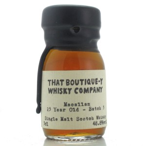 Macallan 25 Year Old That Boutique-y Whisky Company Batch #5 Miniature 3cl